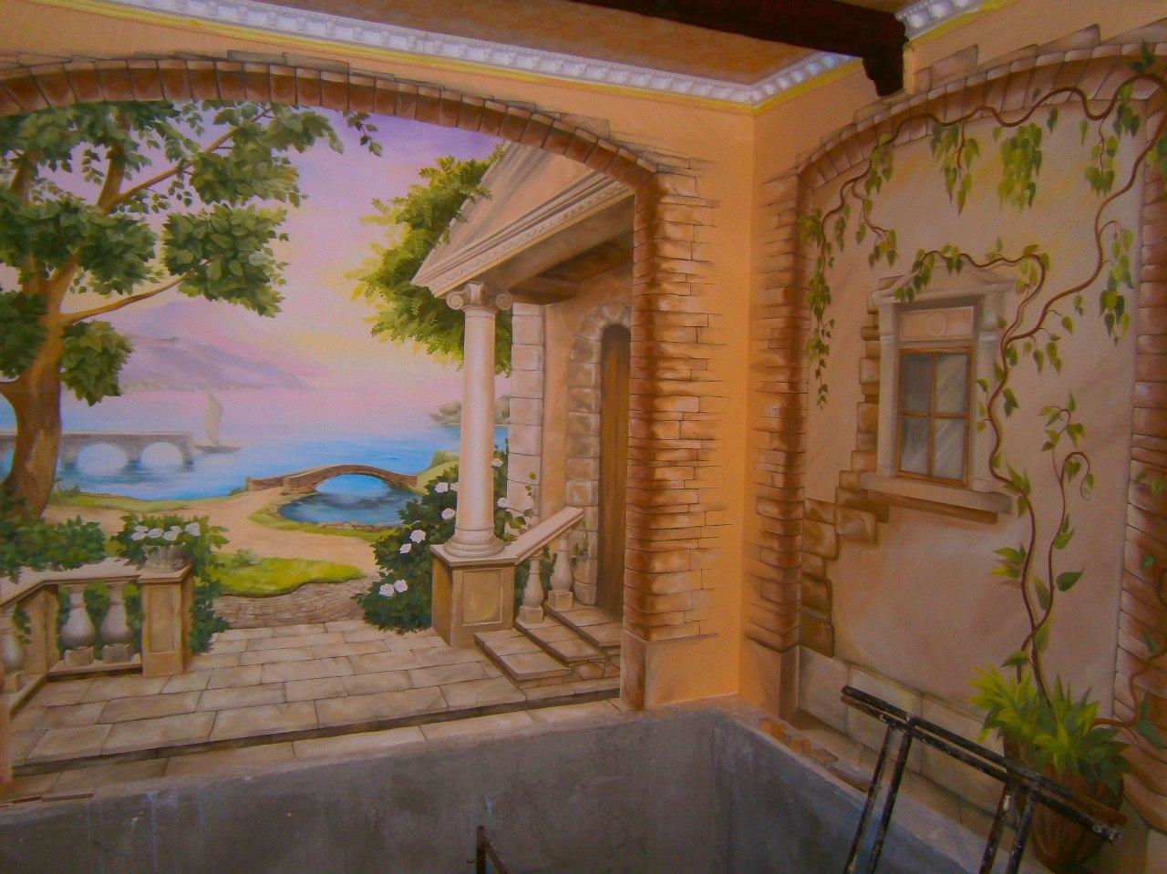Художественная роспись сауны в городе Симферополь