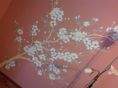 Флористичнские мотивы в интерьере - Художественная роспись на стенах - Симферополь